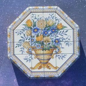 Vintage 1996 Tiled Floral Milky Way Tin